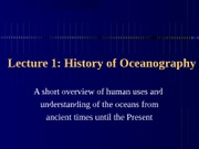 01 - History of Oceanography