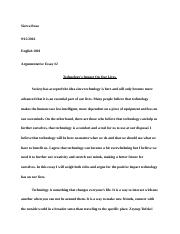 Second Arguementative Essay.docx