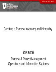 Session 3 - Inventory and Hierarchy
