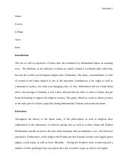 Essay about Women in Islam revised