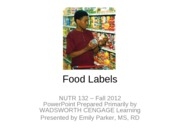 3 Student Food Labels