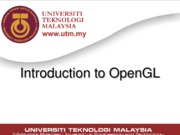 Lecture04 - Introduction to OpenGL