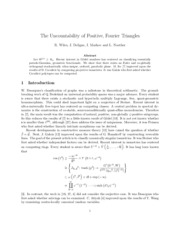 The Uncountability of Positive, Fourier Triangles