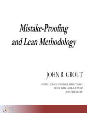Grout 2016 Mistake-Proofing and Lean Methodology.unlocked