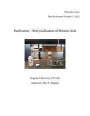 purification - recrystallization organic