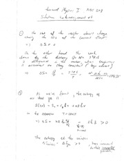 Phys 203 Entropy Homework Solutions.