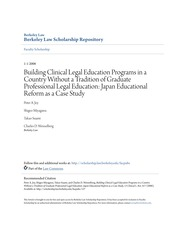 Building Clinical Legal Education Programs in a Country Without a
