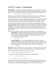 CECS277–Lect03-Polymorphism