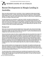 RBA Bulletin December 2009-Recent Developments in Margin Lending in Australia