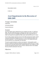 Case 4.1 Asset Impairments in the Recession of 2008-2009 TN (1)