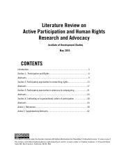 Lit Review Human Rights