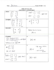 OPRE3333 Assignment 2 Solutions
