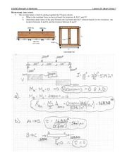 Beam Shear Problem Set 1