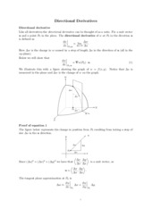 Directional Derivatives review