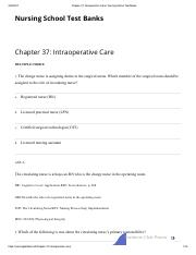 Chapter 37_ Intraoperative Care _ Nursing School Test Banks