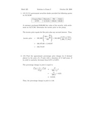 Sample Exam 2-2 Solution on Mathematics of Investments and Credits