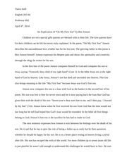 "on my first son explication essay rosenberg claire rosenberg  3 pages an explication of ""on my first son"" by ben jonson"