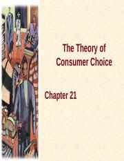 Lecture - 8 - Chapter 21 - The Theory of Consumer Choice - Ordinal Approach II.ppt