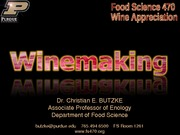 winemaking lecture 4 wine