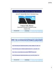 Lecture 7B - Selected Web Sites for Renewable Energy - Part 2