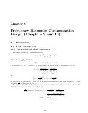 chapter8 Frequency-Response Compensation