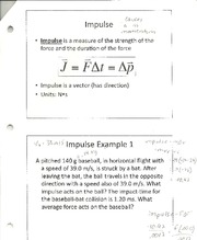 Physics- Impulse notes