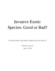 Invasive Exotic Species