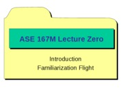 ASE 167M - Lecture 0