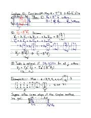 Linear Programming Lecture 12