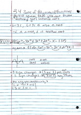 Notes, Zeroes & Rational Functions