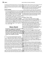 Steve Reich - Biography:Music Style