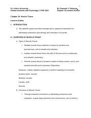 St._John's_University_PHS_3103_Human_Anatomy_and_Physiology_I_Lecture_Outline_Chapter_10_Muscle_Tiss
