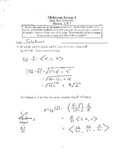 Midterm Exam 1 answers Spring 2011