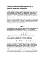 BUSSTAT 207 Fixed points of the RG equations in greater than one dimension