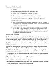 Management Test Three Study Guide