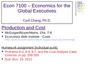 Chapter 7 & 8 ppt noes for production costs