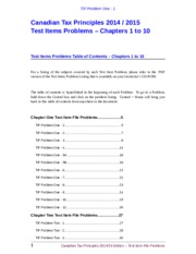 Word TIF Problems 01-10 (2014)