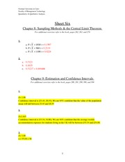 Tutorial 7 (answers)