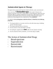 Antimicrobial Agents in Therapy.doc
