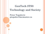Lecture - Social Control of Technology & Public Policy
