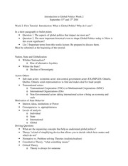 PO231 Week 2 Notes