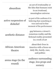 Intro to Theatre Test 1