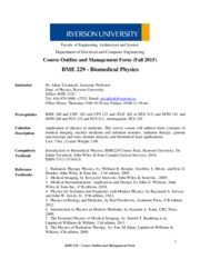 BME229_Course Outline and Management Form_Fall2015_Rev2
