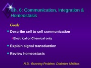 Chapter 6 Homeostasis, Part 1