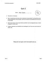 Assembly Code to Machine Code Quiz