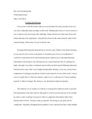 Texting and driving essay.docx