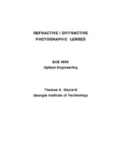 Refractive and Diffractive Photo Lenses