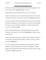 NT1330_Unit 9_Lesson 9_Knowledge Assessment_Multiple Choice