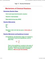 Topic_7C - Reaction Mechanisms