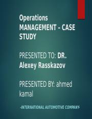 Operation management presentation- ahmed.pptx